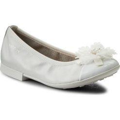 Baleriny GEOX - R Plie' B J8255B 04402 C1000 S  White. Szare baleriny dziewczęce marki Geox, z gumy. W wyprzedaży za 199,00 zł.