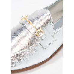 Creepersy damskie: Topshop KARPENTER Półbuty wsuwane silver