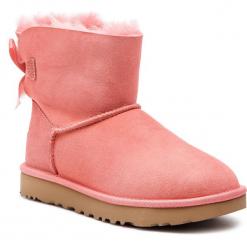 Buty UGG - W Mini Bailey Bow II 1016501  W/Lnt. Szare buty zimowe damskie marki Ugg, z materiału, z okrągłym noskiem. Za 839,00 zł.