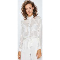 Answear - Koszula. Szare koszule damskie marki ANSWEAR, m, w paski, z poliesteru, casualowe, z klasycznym kołnierzykiem, z długim rękawem. W wyprzedaży za 79,90 zł.
