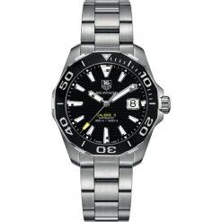 ZEGAREK TAG HEUER AQUARACER 300M WAY211A.BA0928. Czarne zegarki męskie marki KALENJI, ze stali. Za 10450,00 zł.