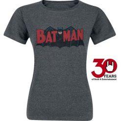 Bluzki asymetryczne: Batman Authentic Logo Koszulka damska odcienie ciemnoszarego