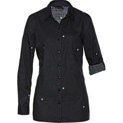 Bluzki damskie: Długa bluzka z nadrukiem bonprix czarno-biały z nadrukiem