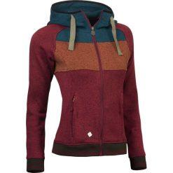 Bluzy rozpinane damskie: Woox Bluza damska Fleece Polar | Vellera Simplon Chica czerwono-niebiesko-brązowa r. 34