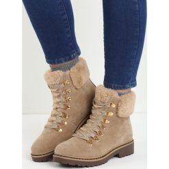 Beżowe Traperki Elapsed Time. Brązowe buty zimowe damskie Born2be, z okrągłym noskiem, na płaskiej podeszwie. Za 109,99 zł.