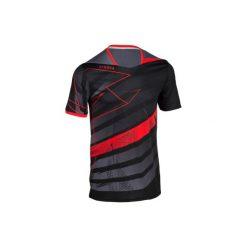 T-shirty męskie: Koszulka H500 czarno-czerwona
