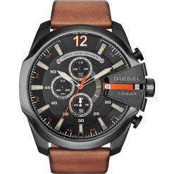 Biżuteria i zegarki: Zegarek DIESEL - Mega Chief DZ4343 Light Brown/Gunmetal