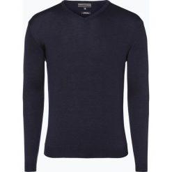 Swetry klasyczne męskie: Finshley & Harding – Sweter męski, niebieski