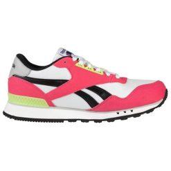 Buty sportowe w kolorze biało-różowym. Brązowe buty sportowe męskie marki Reebok, z materiału. W wyprzedaży za 199,95 zł.