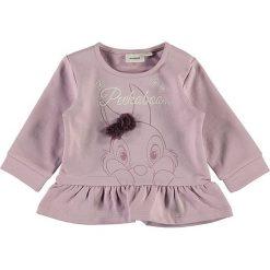 """Bluza """"Humper"""" w kolorze fioletowym. Fioletowe bluzy dziewczęce rozpinane marki bonprix, z nadrukiem. W wyprzedaży za 49,95 zł."""