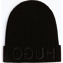HUGO - Czapka – Unisex-X537, czarny. Czarne czapki damskie HUGO, z napisami. Za 269,95 zł.