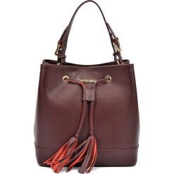 Torebki klasyczne damskie: Skórzana torebka w kolorze bordowym – (S)27 x (W)29 x (G)17,5 cm