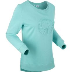 Bluzy damskie: Bluza z tłoczonym motywem, długi rękaw bonprix morski pastelowy