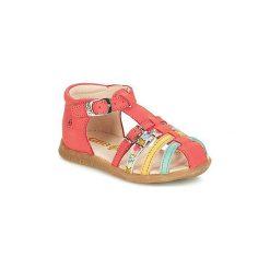 Sandały Dziecko  GBB  PERLE. Czerwone sandały dziewczęce marki Born2be, z materiału, z otwartym noskiem, na zamek. Za 223,20 zł.