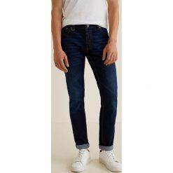 Mango Man - Jeansy Tim3. Niebieskie jeansy męskie regular Mango Man, z bawełny. Za 199,90 zł.