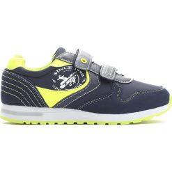 Granatowo-Limonkowe Buty Sportowe Steps. Niebieskie buciki niemowlęce Born2be, z okrągłym noskiem, na obcasie, na rzepy. Za 79,99 zł.