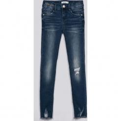 Name it - Jeansy dziecięce 128-164 cm. Niebieskie rurki dziewczęce Name it, z haftami, z bawełny. W wyprzedaży za 99,90 zł.