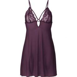 Koszulka nocna bonprix czarny bez. Fioletowe koszule nocne i halki marki FOUGANZA, z bawełny. Za 79,99 zł.