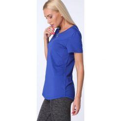 T-shirt luźny fason chabrowy MR16618. Niebieskie t-shirty damskie Fasardi, l. Za 39,00 zł.