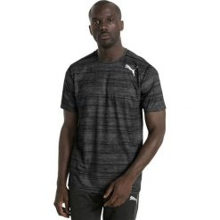 Puma Koszulka męska Essential Tech Graphic Tee szaro czarna r. L  (515188 14). Czarne t-shirty męskie Puma, l. Za 105,77 zł.