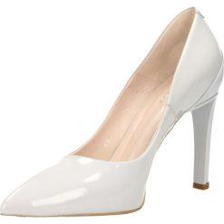 Czółenka ANET. Szare buty ślubne damskie Gino Rossi, z lakierowanej skóry, na wysokim obcasie, na szpilce. Za 199,90 zł.