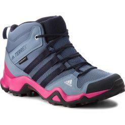 Buty adidas - Terrex Ax2r Mid Cp K AC7976 Tecink/Legink/Reamag. Niebieskie buty trekkingowe damskie Adidas. W wyprzedaży za 249,00 zł.