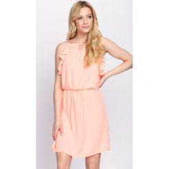Sukienki: Pomarańczowa Sukienka First Impression