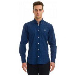 Galvanni Koszula Męska Bruges M, Ciemnoniebieski. Niebieskie koszule męskie na spinki GALVANNI, m, z bawełny. W wyprzedaży za 199,00 zł.