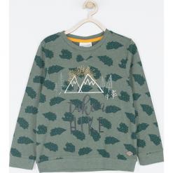 Koszulka. Zielone t-shirty chłopięce z długim rękawem Wild, z nadrukiem, z bawełny. Za 55,90 zł.