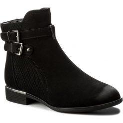 Botki JENNY FAIRY - WYL1090A-2 Czarny. Czarne buty zimowe damskie marki Jenny Fairy, z materiału, na obcasie. Za 119,99 zł.