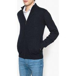 Sweter z kołnierzem-stójką. Szare kardigany męskie marki La Redoute Collections, m, z bawełny, z kapturem. Za 214,58 zł.