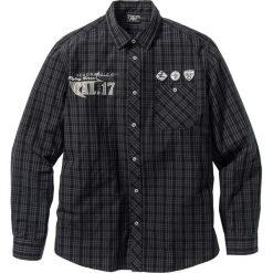 Koszula z długim rękawem bonprix czarny w kratę. Białe koszule męskie marki bonprix, z klasycznym kołnierzykiem, z długim rękawem. Za 89,99 zł.