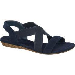 Rzymianki damskie: sandały damskie Graceland niebieskie