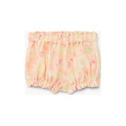 Mango Kids - Szorty dziecięce Lia 68-80 cm. Szare spodenki dziewczęce Mango Kids, z bawełny, casualowe. W wyprzedaży za 29,90 zł.
