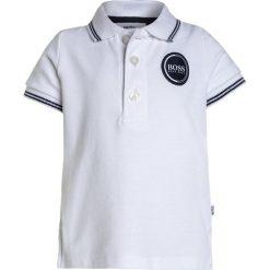 BOSS Kidswear BABY LAYETTE  Koszulka polo weiss. Niebieskie bluzki dziewczęce bawełniane marki BOSS Kidswear. Za 179,00 zł.