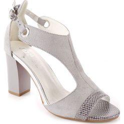 Rzymianki damskie: Sandały damskie na słupku szare Jezzi