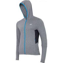 Bluzy męskie: Bluza treningowa męska BLMF001 – ciemny szary melanż