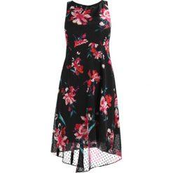 Sukienki hiszpanki: Wallis DOBBY FLORAL HI LOW MIDI DRESS Sukienka koktajlowa black