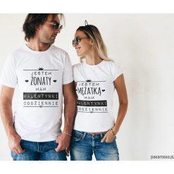 Koszulki dla par - Walentynki codziennie. Szare t-shirty damskie Pakamera, m, z napisami. Za 109,00 zł.