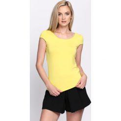 Bluzki, topy, tuniki: Żółty T-shirt Ascent