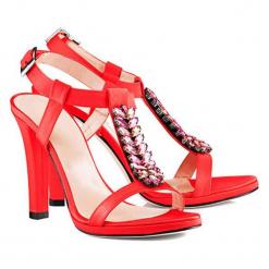Sandały w kolorze czerwonym. Czerwone sandały damskie BOHOBOCO, na obcasie. W wyprzedaży za 899,95 zł.