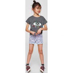 Mango Kids - Top dziecięcy Ojo 110-164 cm. Różowe bluzki dziewczęce marki Mayoral, z bawełny, z okrągłym kołnierzem. Za 49,90 zł.