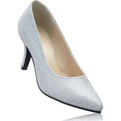 Czółenka bonprix srebrny. Szare buty ślubne damskie bonprix, na obcasie. Za 89,99 zł.
