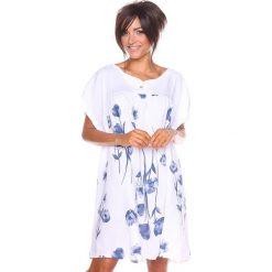 """Sukienki hiszpanki: Lniana sukienka """"Suzy"""" w kolorze białym"""