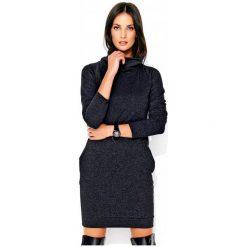 Numinou Sukienka Damska 40 Ciemnoszary. Czarne sukienki z falbanami marki Numinou, z golfem. Za 189,00 zł.