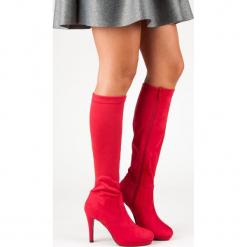 SEKSOWNE KOZAKI DAMSKIE. Czerwone buty zimowe damskie SMALL SWAN. Za 102,90 zł.