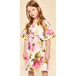 Sukienki niemowlęce: Sukienka w kwiaty - Kremowy