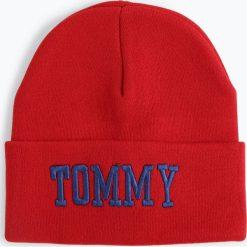 Tommy Jeans - Czapka damska, czerwony. Szare czapki damskie marki Calvin Klein Jeans, na zimę, z jeansu. Za 229,95 zł.