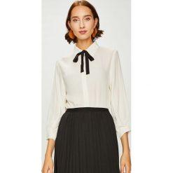 Answear - Koszula. Szare koszule wiązane damskie marki ANSWEAR, l, z tkaniny, casualowe, z klasycznym kołnierzykiem, z długim rękawem. W wyprzedaży za 99,90 zł.