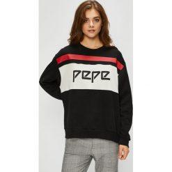 Pepe Jeans - Bluza Frankie. Szare bluzy rozpinane damskie Pepe Jeans, l, z nadrukiem, z bawełny, bez kaptura. W wyprzedaży za 259,90 zł.